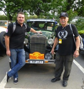 Michael (left) and Rod with the Ford Model A