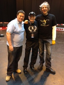 Rod with Mike and Edd from Wheeler Dealers