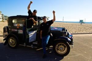 Celebrating at Venice Beach