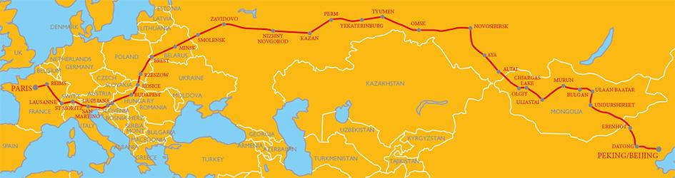 Peking to Paris 2016 Route Map