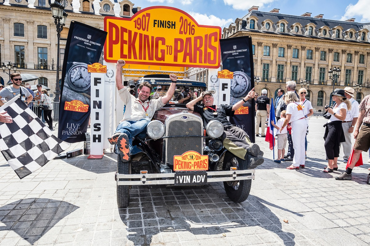 Peking to Paris Finish Line Vintage Advernturer