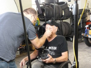 Rod gets touched up...