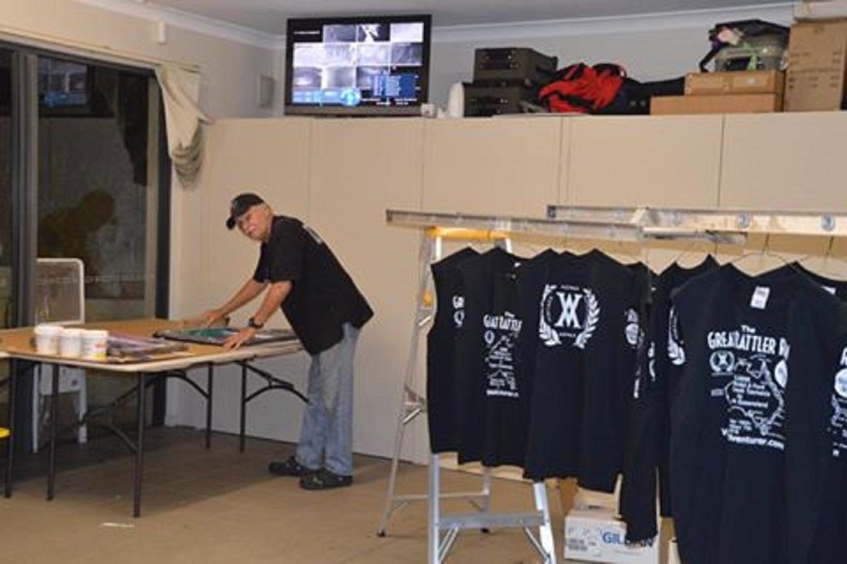 Crew TShirt Printing Great rattler Run Vintage Adventurer